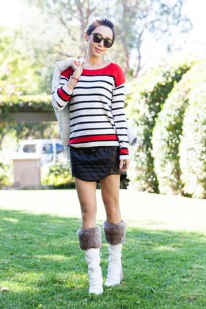 coach boots - Splendid jacket - Splendid sweater - cameo skirt