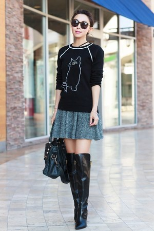 Marc by Marc Jacobs sweater - Signerson Morrison boots - balenciaga bag