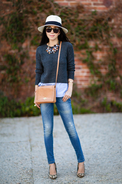 JCrew sweater - JCrew bag