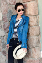 dressvenus jacket - Alexander Wang boots - Current Elliott jeans - J Crew hat