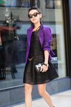 escada blazer - Parker dress - Theory pants - Alexander Wang heels