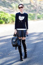 JCrew sweater - Alice  Olivia boots - Marc by Marc Jacobs bag
