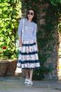 Topshop-sweater-birkenstock-flats-chicwish-skirt