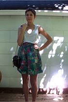 J Crew top - Elizabeth and James skirt - Steve Madden accessories