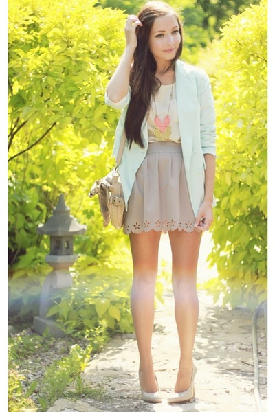 off white ianywear skirt - light blue Chicwish blazer