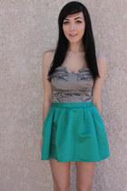 turquoise blue skirt