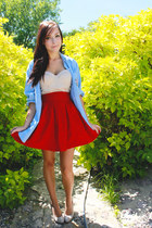 red romwe skirt