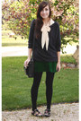 Charcoal-gray-girlfriends-material-sweater-green-forever-21-skirt