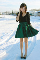 green Flattery skirt