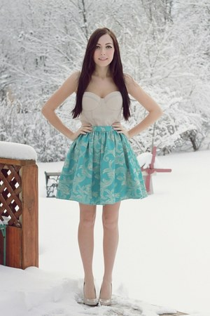 aquamarine Flattery skirt