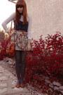 Tawny-wet-seal-shoes-orange-spring-purse-tawny-forever-21-skirt-navy-urban