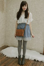 Gray-forever-21-boots-brown-forever-21-bag-light-blue-forever-21-skirt-ivo