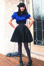 Skirt-black-icing-accessories-blue-seduction-shirt