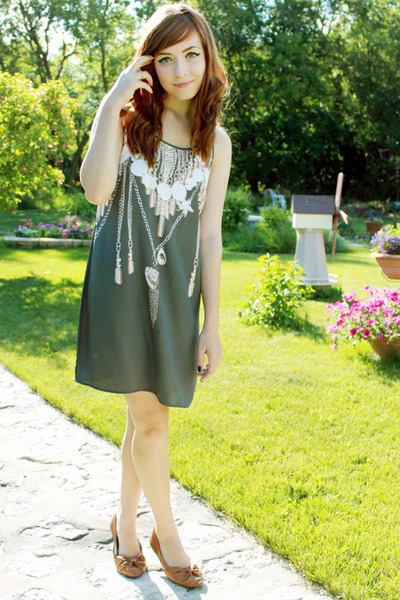 silver new york and co dress