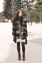 brown Chicwish coat - light brown Chicwish scarf - burnt orange tabbisocks socks
