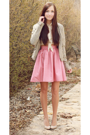 light pink Flattery skirt - silver Costa Blanca jacket