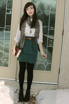 green urban behavior skirt - black Spring Shoes boots
