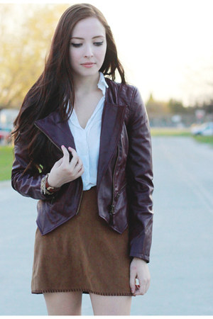 maroon Forever 21 jacket