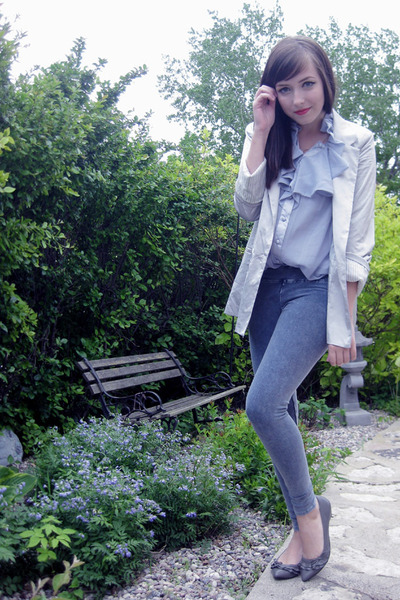 silver Costa Blanca blazer - blue Costa Blanca top - blue garage leggings