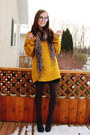 Mustard-romwe-sweater-black-proopticals-glasses