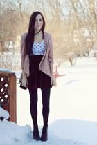 light pink LuLus blazer - black Spring Shoes boots - black Forever21 top