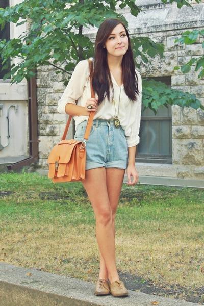 orange romwe bag - white romwe top