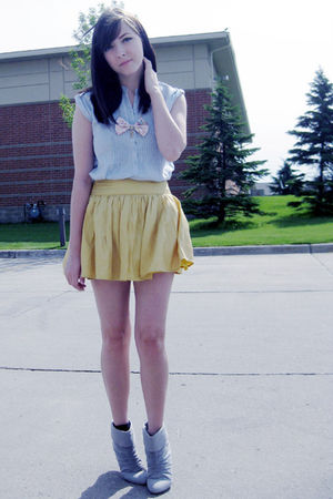 yellow Forever 21 skirt - blue urban behavior top - pink wwwmisspatinabigcartelc