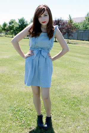 blue miss patina dress - black Spring