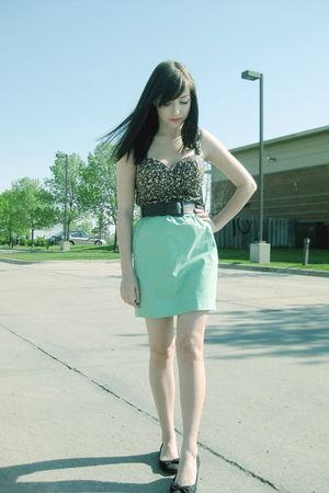 black urban behavior top - green joe fresh style skirt