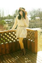 gold Anthropologie tights - orange Costa Blanca scarf - brown wwwmodclothcom sho