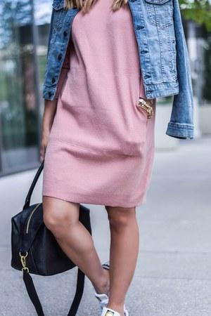 pink sweater dress asos dress