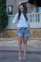 blue Nordstrom shorts