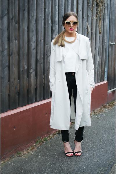 black pull&bear pants - beige H&M Trend jacket