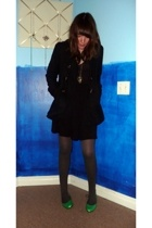 Forever 21 coat - Old Navy shirt - handmade skirt - ae shoes