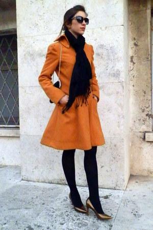 orange Nef coat - black Oviesse scarf - black Aldo bag