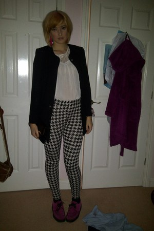 H&M leggings - Underground shoes - Gina Baconni jacket - H&M blouse