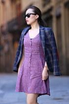 Tag Heuer watch - Steve Madden boots - Urban Outfitters dress - Zara blazer