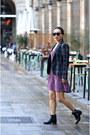 Steve-madden-boots-urban-outfitters-dress-zara-blazer-vintage-sunglasses