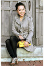 Tan-anthropologie-coat-yellow-banana-republic-bag-brown-gap-skirt