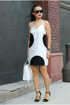 JCrew dress - coach bag - vintage sunglasses - Zara heels