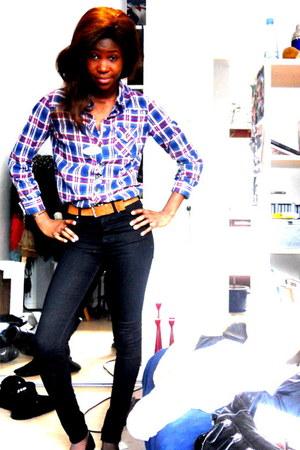 H&M shoes - skinny jeans Bik Bok jeans - vintage shirt