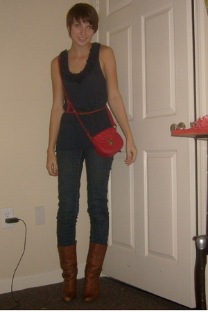Urban Outfitters top - Urban Outfitters belt - TJ Maxx purse - Charlotte Russe j