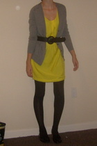 J Crew sweater - Old Navy dress - belt - tights - Old Navy shoes