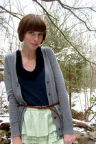 green JCrew skirt - blue Urban Outfitters top - brown Urban Outfitters belt - gr