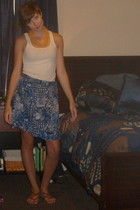 necklace - Old Navy top - Loose Lucys skirt - Nine West shoes