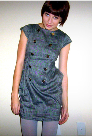 gray Urban Outfitters dress - gray Target tights