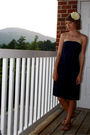 White-forever-21-accessories-blue-j-crew-dress-brown-nine-west-shoes