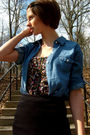 Blue-old-navy-dress-black-urban-outfitters-top-black-urban-outfitters-skirt-