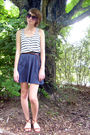 White-forever-21-shirt-brown-urban-outfitters-belt-gray-urban-outfitters-ski