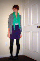 green Old Navy scarf - purple Urban Outfitters skirt